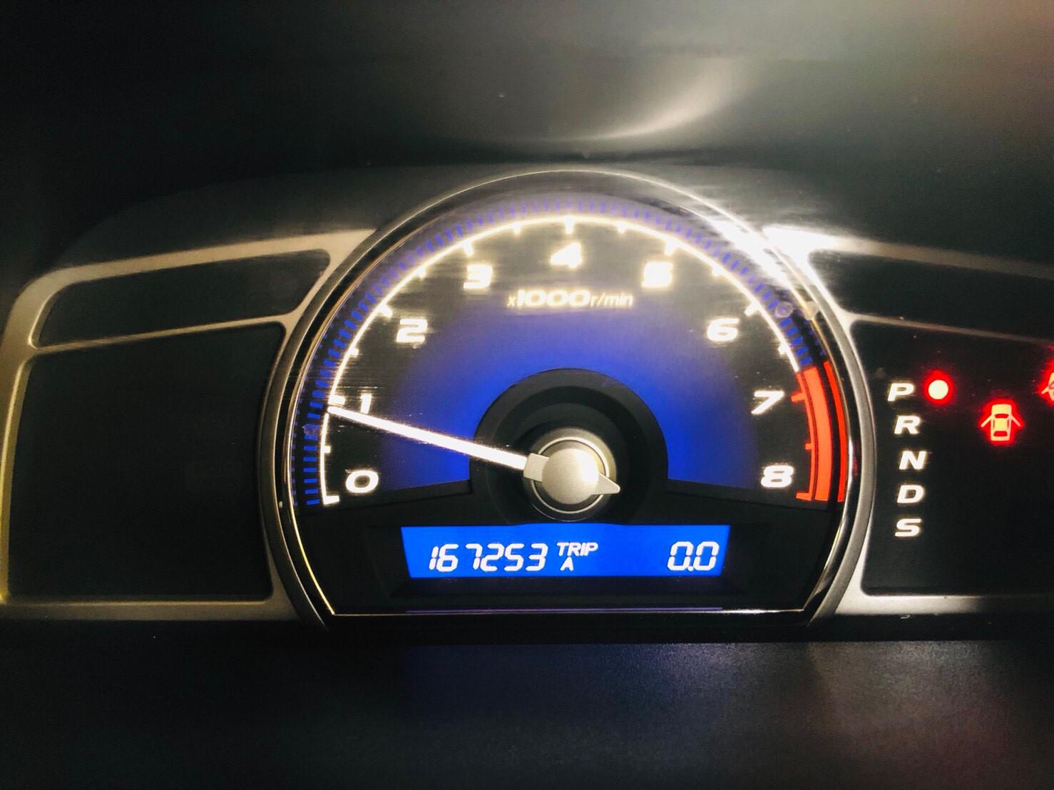 ภาพหน้าปัดเลขไมล์ ฮอนด้า ซีวิค 2.0 EL ปี 2006