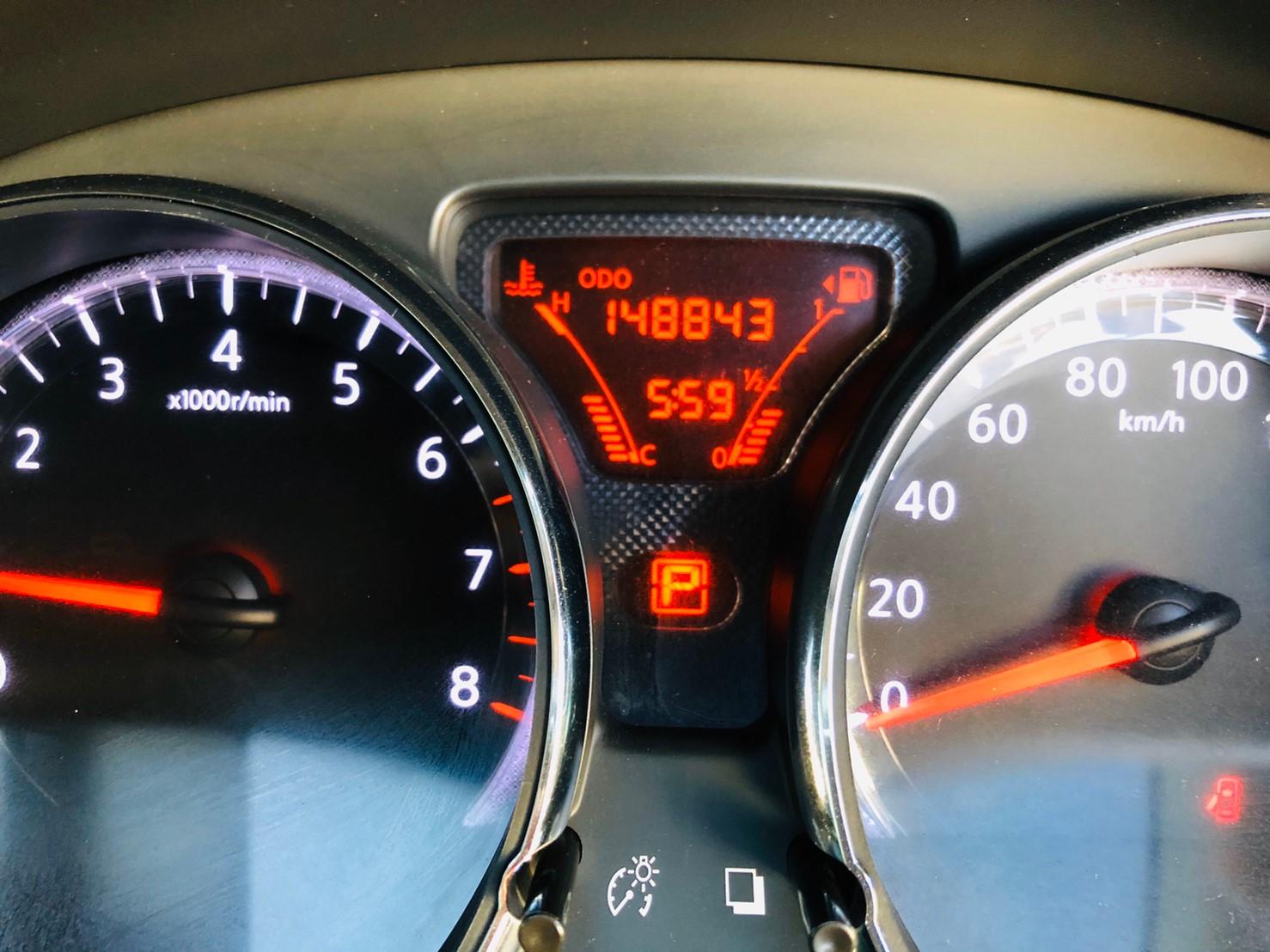 ภาพหน้าปัดเลขไมล์ นิสสัน อัลเมร่า 1.2 V ปี 2013