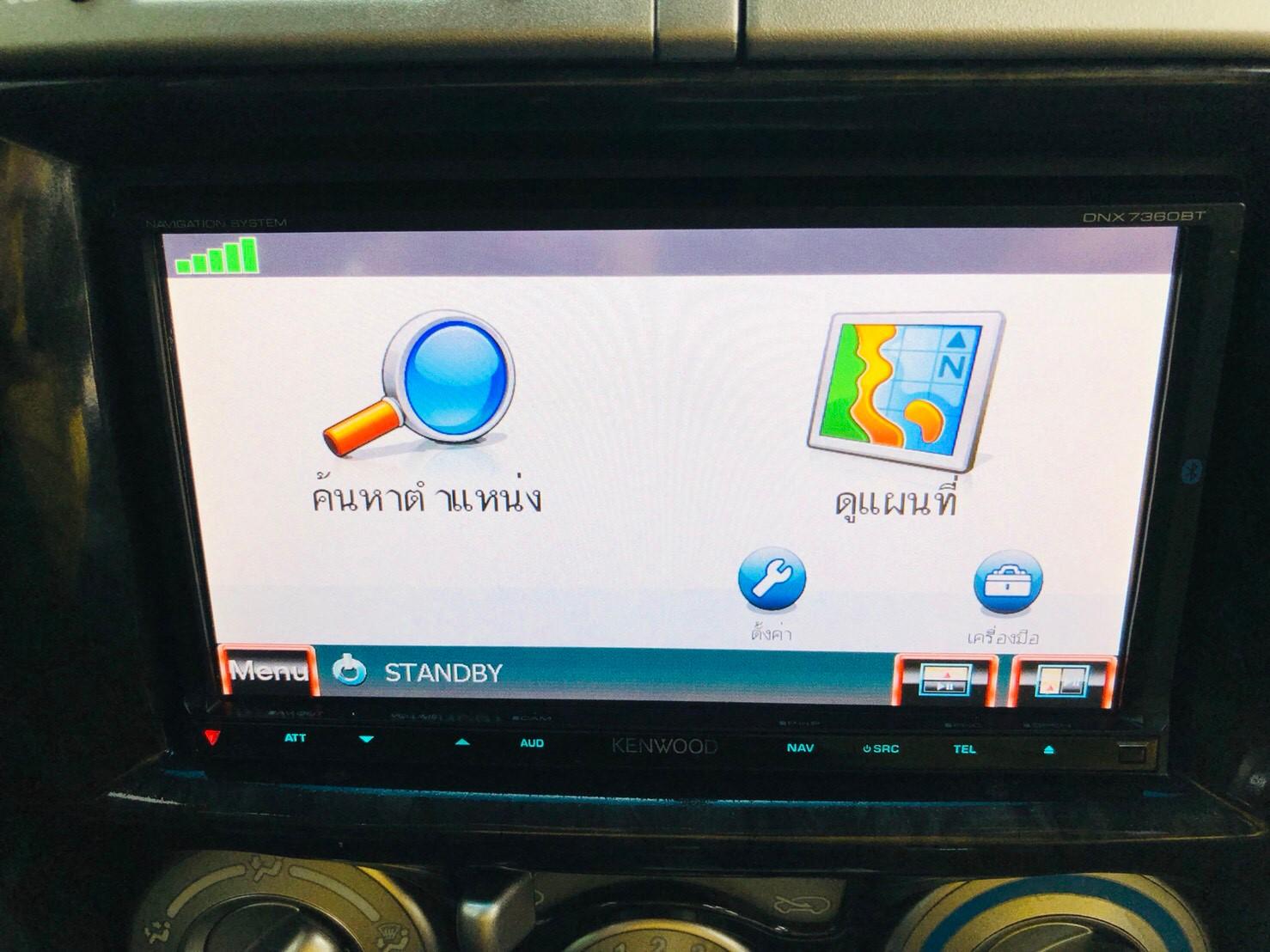 ภาพระบบนำทาง อีซูซุ มิว-เซเว่น Choiz 3.0 VGS ปี 2012
