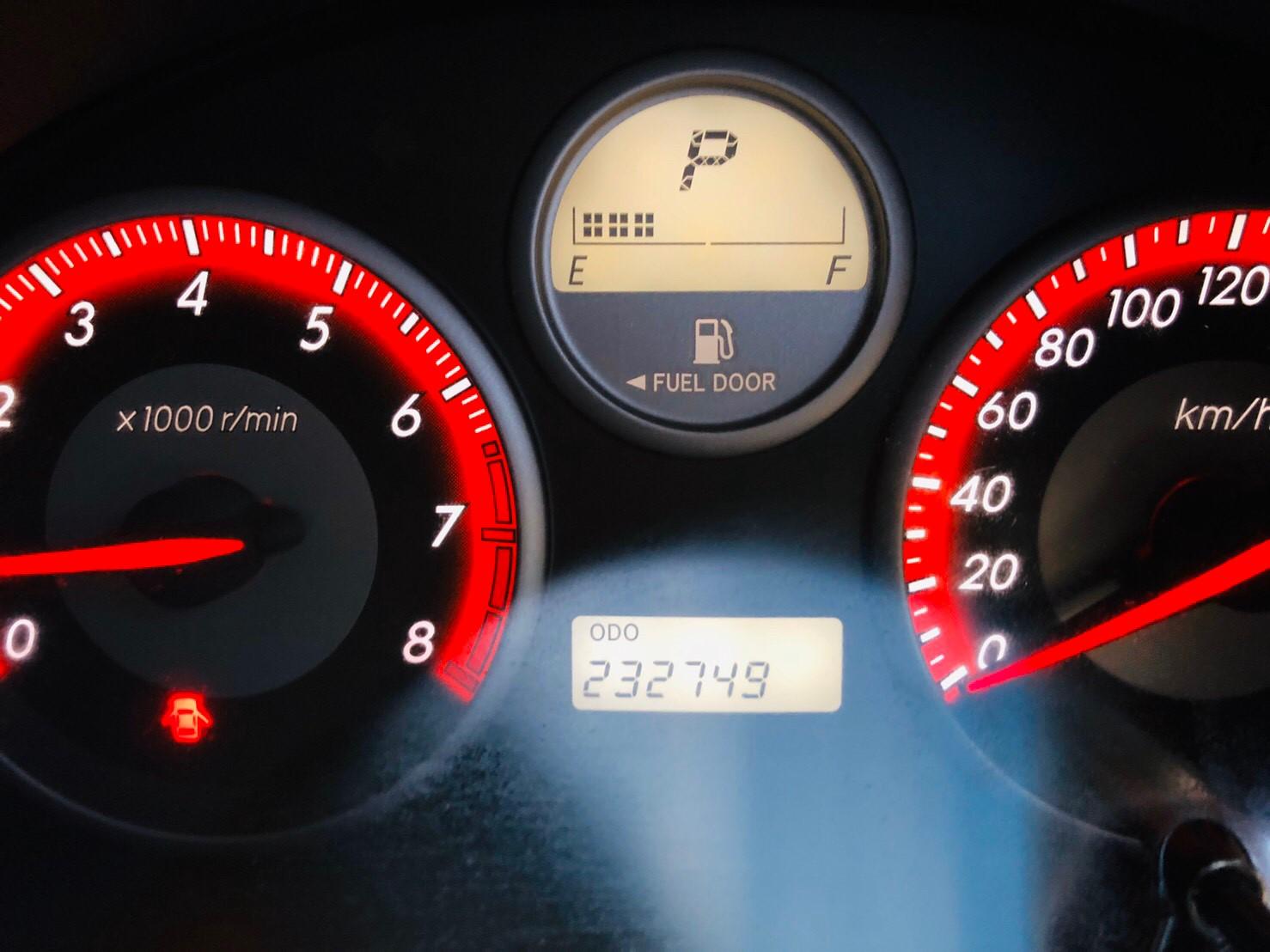 ภาพหน้าปัดเลขไมล์ โตโยต้า วิช 2.0 sport touring 2 ปี 2008